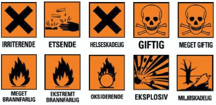 Etiketter fra løsemidler